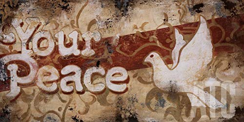 ArtToCanvas 48W x 24H inches : Your Peace by Rodney White - Canvas w/Brushstrokes