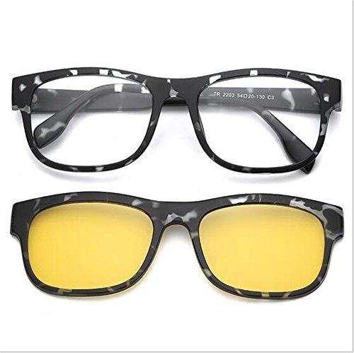 Amazon.com: Magnetic Clip en anteojos de sol polarizadas ...