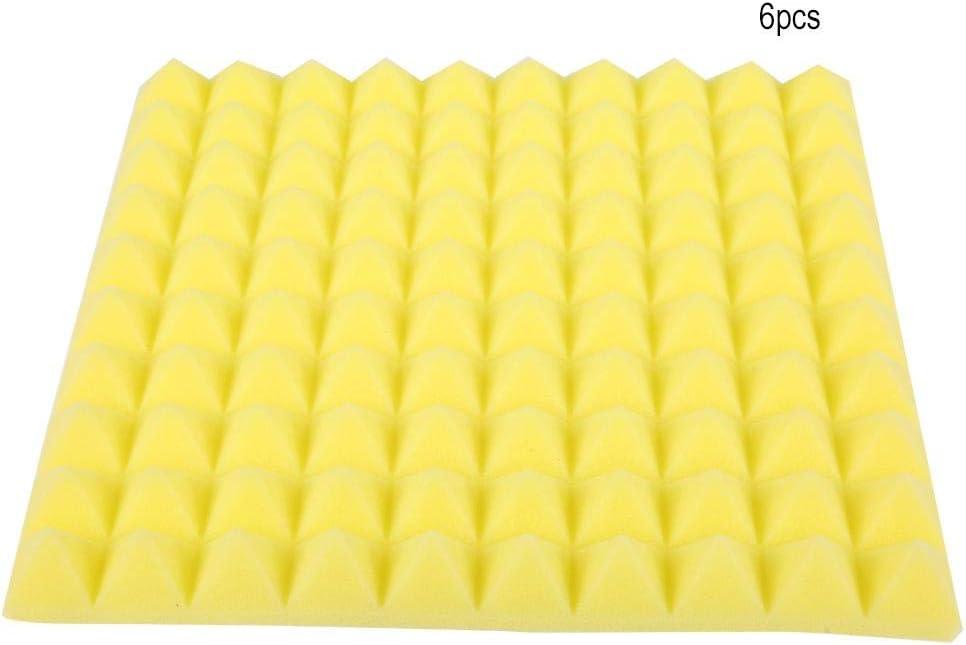 #3 6 * 50 * 50 * 5cm Mousse Acoustique Mousse de Coton insonorisante et insonorisante Jacksking Mousse disolation phonique Forme de Pyramide