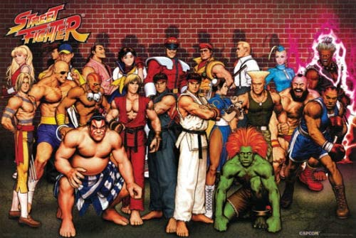 Amazon Com Hotstuff Street Fighter Characters Poster Capcom Ryu Ken Video Game Anime 24 X36 Posters Prints