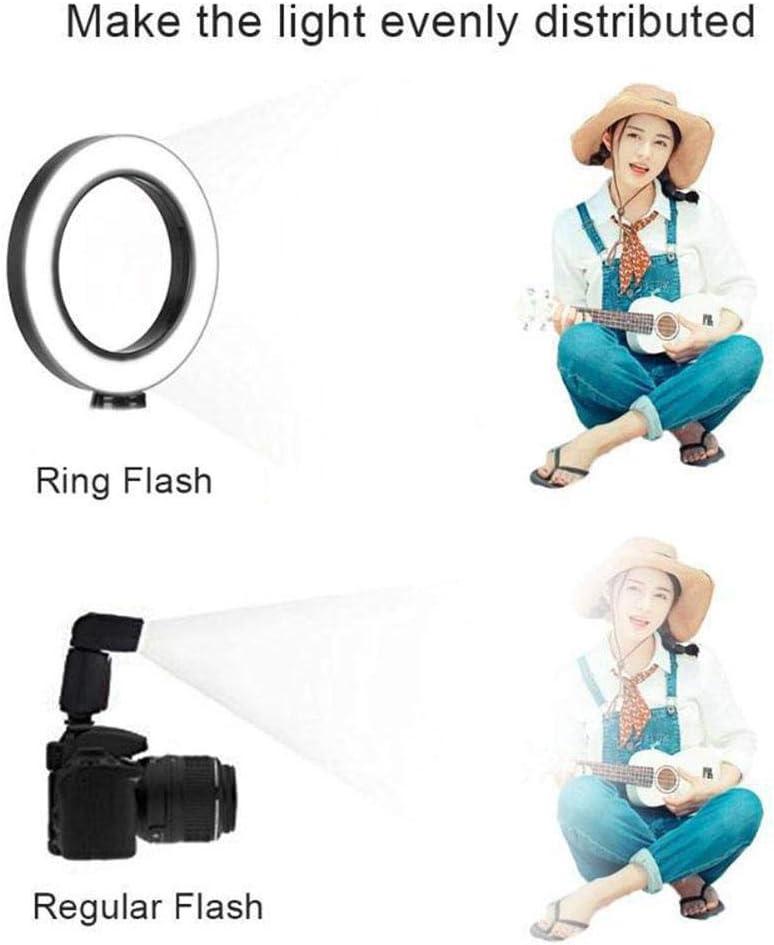 3 Light Modes /& 11 Brightness Level 7.9 inch Ring Light Desktop Floor Lamp with Tripod Stand Cell Phone Holder for Video Makeup Live Stream LED Selfie Ring Light