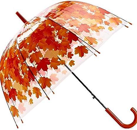 Genkue Forma de Hongo Transparente Paraguas Burbuja Paraguas Hoja ...