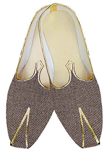 INMONARCH Hombres Boda Zapatos Groomsman Yute de Bronce MJ014221