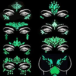 Face Gems Body Stickers Glow in the Dark