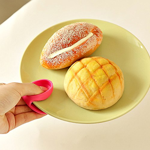 1PC Grips Mini Anti-scald Gloves Pot Holder Potholder for Kitchen Silicone Pot Holder Oven Mitt Heat Resistant Cooking Finger Protector Pinch Grips by Muhan (Image #8)