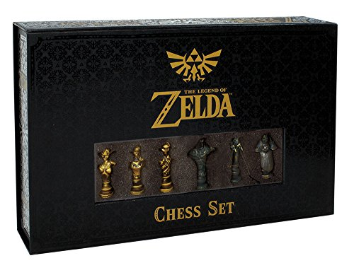 USAopoly The Legend of Zelda Chess Set | 32 Custom Sculpt Chess Pieces | Link vs. Ganon | Themed Chess Game from the Nintendo Zelda Video Games -