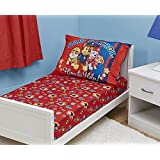 Paw Patrol Toddler Fitted Sheet and Pillow Case Set,...