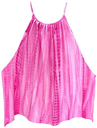 La Leela traje de baño traje de baño bikni kimono ropa de playa floja encubrir vestido de verano ocasional de las mujeres rosado