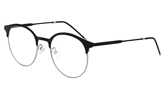 dd3aaa554b Image Unavailable. Image not available for. Color  eyeooqz Cat Eye Alloy Optical  Frame Eyeglasses Designer Glasses ...