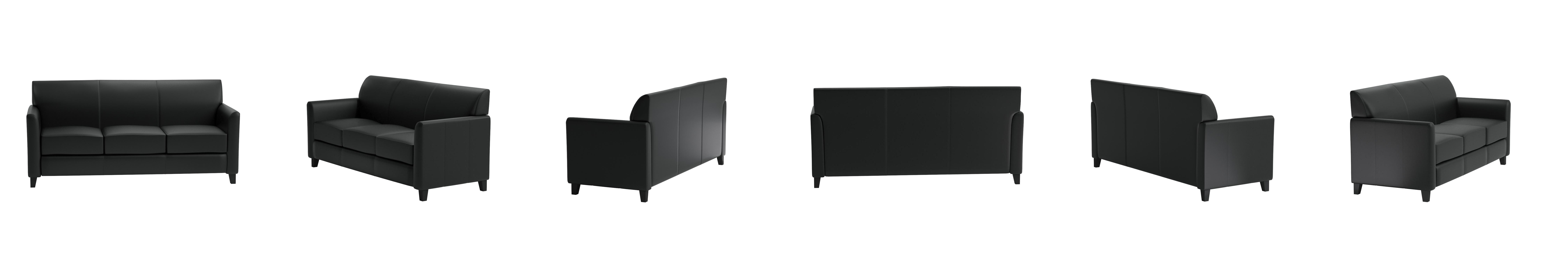 amazon com flash furniture hercules diplomat series black leather