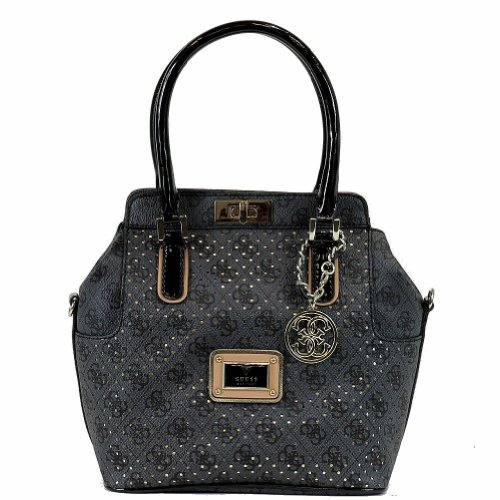 Guess Women's Logo Remix Sp45205 Turnlock Satchel Handbag (coal) Sp452705-011