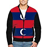 988Iron Albanian Muslim Flag Men's Classic Zipper Jacket Coat
