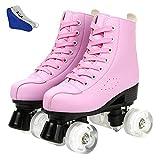 DUBUK Double-Row Roller Skates for Unisex, Roller