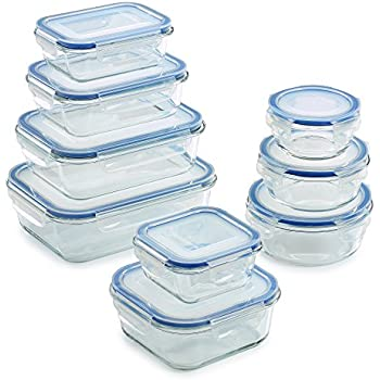 Amazoncom Removable Lids Glass Food Storage Containers Set 18
