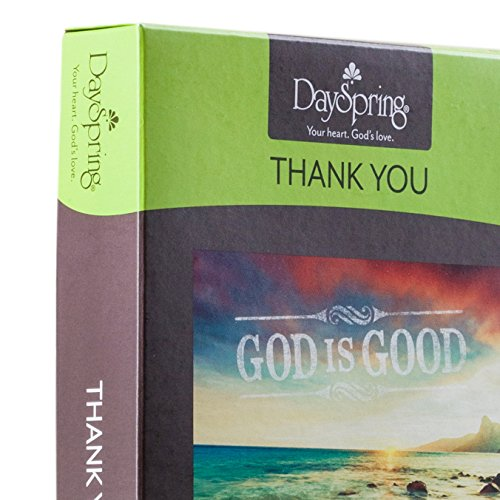 DaySpring Thank You Boxed Greeting Cards w Embossed Envelopes - God is Good, 12 Count (45608) Photo #7