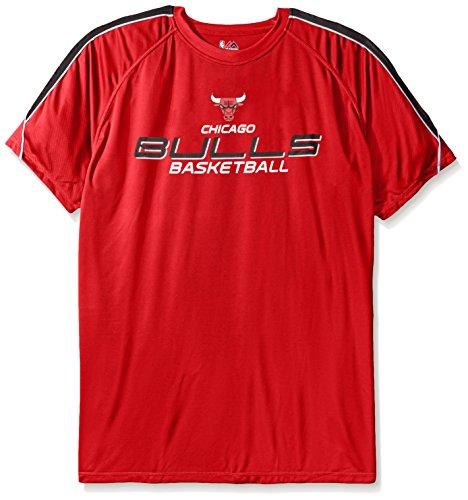 NBA Houston Rockets Short Sleeve Screen Tee 3X//Tall Red//Heather
