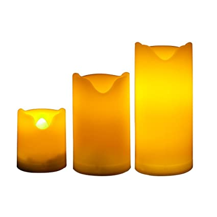 Amazon.com: Candle Choice Set of 3 Long Lasting Indoor and Outdoor ...