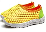 Bumud Boy's Girl's Breathable Mesh Light Weight Slip-on Sneakers Beach Walking Running Shoe (9 M US Toddler, Yellow)