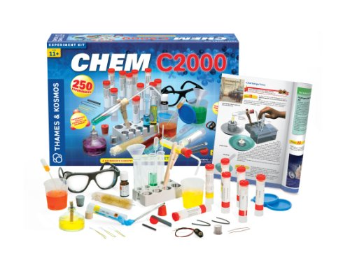 Thames & Kosmos Chem C2000 (V 2.0) Chemistry Set with 250 Experiments and 128 Page Lab Manual, Student Laboratory Quality Instruments & Chemicals by Thames & Kosmos (Image #1)