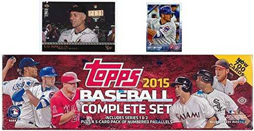 2015 Topps MLB Baseball HUGE 705 Card Factory Sealed HOBBY Factory Set with KRIS BRYANT ROOKIE & 5 EXCLUSIVE PARALLEL Cards #/179! PLUS BONUS Cal Ripken Jr. Jumbo Card! Includes (Topps Baseball Set)