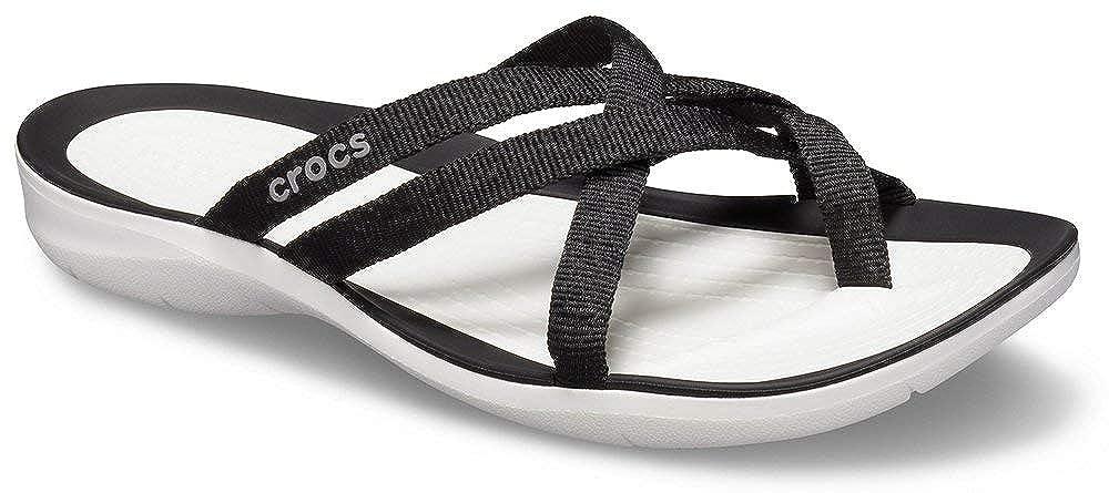 Crocs Womens Swiftwater Webbing Flip Slide Sandal