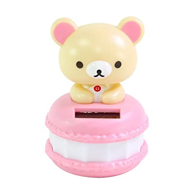 Cute San-X Rilakkuma Beige Bear in a Macaroon ECO Japan Figure Solar Toy Home Decor Birthday Congratulatory Gift B11670~ We pay your sales tax: Toys & Games [5Bkhe1102011]