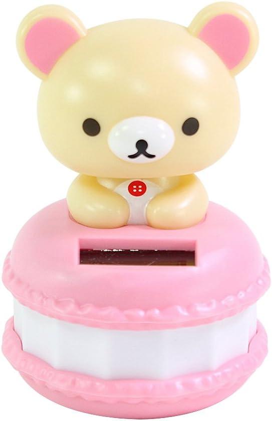 Cute San-X Rilakkuma Beige Bear in a Macaroon ECO Japan Figure Solar Toy Home Decor Birthday Congratulatory Gift US Seller