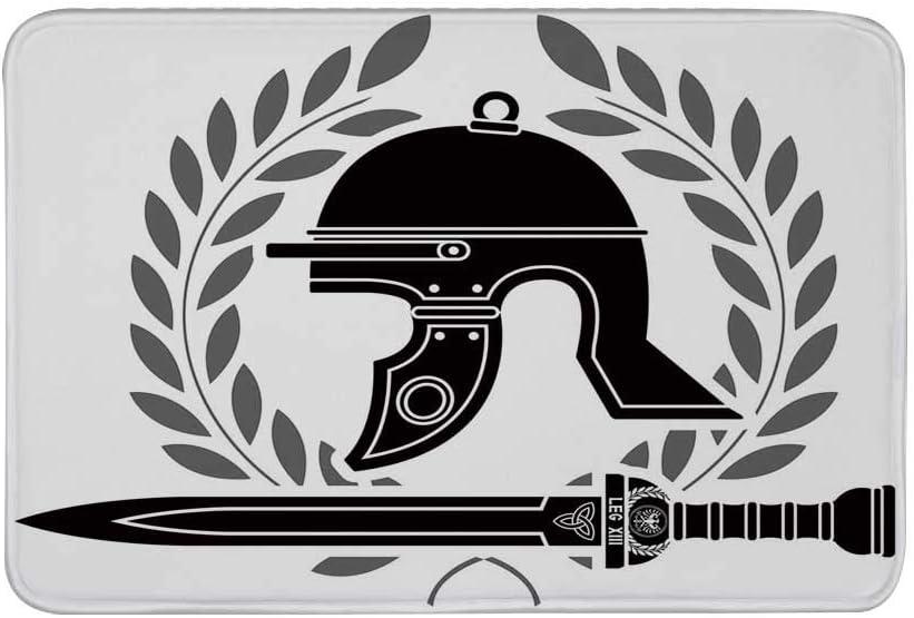 TecBillion Toga - Felpudo antideslizante para fiestas, con diseño griego y silueta de soldado espartano, estilo ...