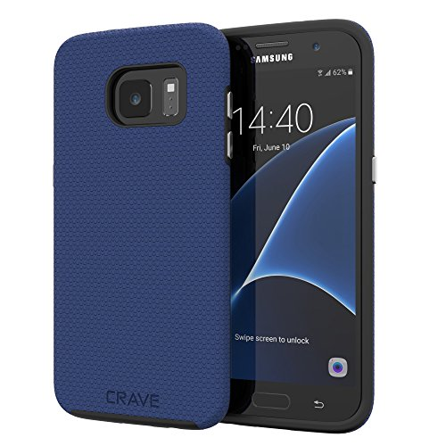 S7 Edge Case, Crave Dual Guard Protection Series Case for Samsung Galaxy S7 Edge - Navy Blue
