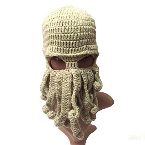 Viento De Beanie Sombrero Funny Octopus Esquí A17 Tentacle MáScara Cap ECYC® Knit Beige q4SZgqw