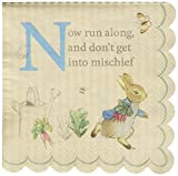 Meri Meri, Peter Rabbit Scallop Edge Napkins, Birthday, Party Decorations - Small