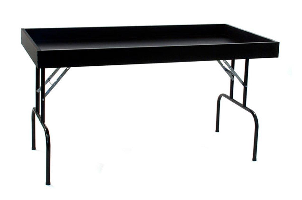 Retail Display Dump Folding Table 30''W x 60''L Ship Knockdown Black Lot of 2 NEW