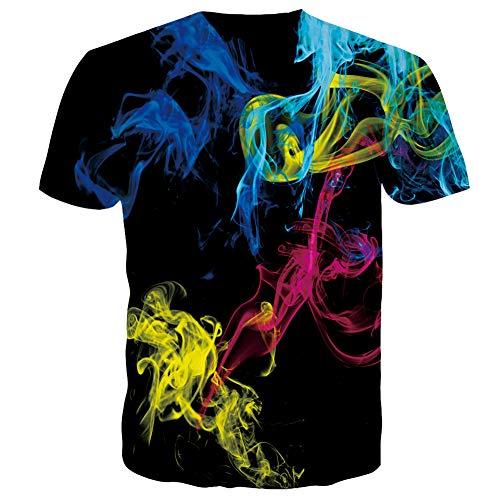 RAISEVERN T Shirt for Men Women 3D Print Blue Black Teenagers Tee Shirt Summer T-Shirts Short Sleeve XXL