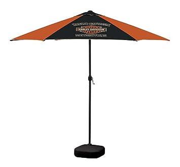 Wonderful Harley Davidson Bar U0026 Shield Patio Umbrella, 8ft Pole, Orange U0026 Black  UMB302646