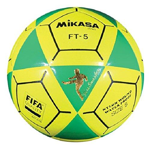 (Mikasa FT5 Goal Master Soccer Ball, Green/Yellow, Size 5)