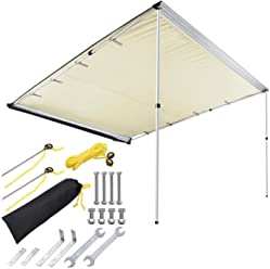 Yescom 8.2x8.2 Car Side Awning Rooftop Pull Out Tent Shelter PU2000mm UV50+