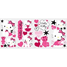 RoomMates RMK2015SCS Hello Kitty Couture Peel and Stick Wall Decals