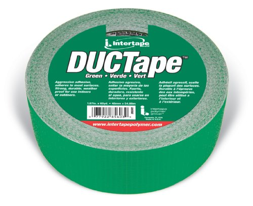 Intertape Polymer Group 20C-GR 2 AC20 9mil Utility Duct Tape, 1.88-Inch x 60-Yard, Green
