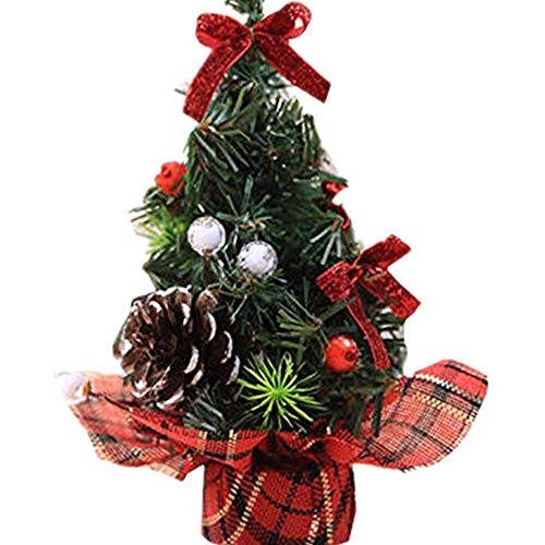 Christmas Green Centerpiece Mini (Home Christmas Decor,Luxury Desk Dinner Table Mini Xmas Tree Festival Party Decoration Ornaments Gift,Multicolor)