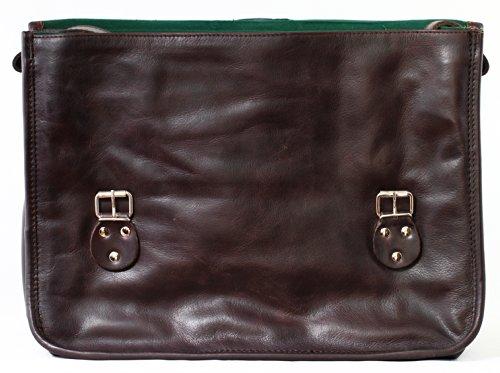 LA SACOCHE (L) cuir couleur INDUS Besace bandoulière style Vintage PAUL MARIUS