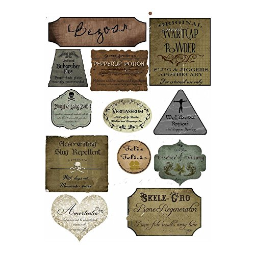 Harry Potter Halloween 12 potion assorted label stickers scrapbooking -