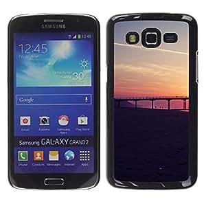TopCaseStore / la caja del caucho duro de la cubierta de protección de la piel - San Francisco Sunset - Samsung Galaxy Grand 2 SM-G7102 SM-G7105