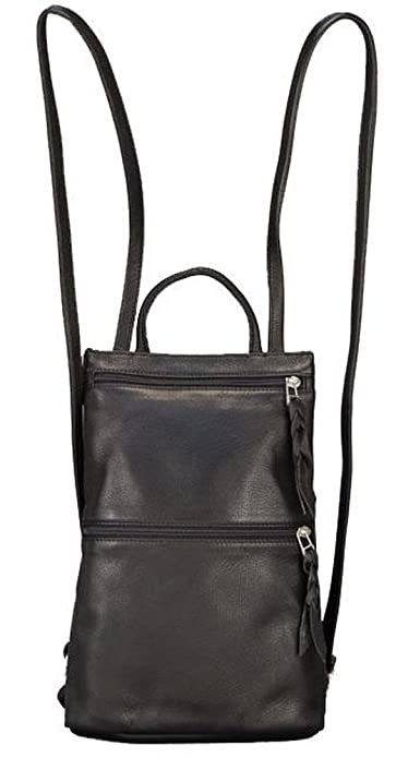 Amazon.com: Sven Design Small Leather Backpack Purse Black: Shoes