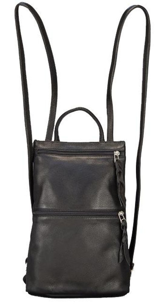 Sven Design Small Leather Backpack Purse Black