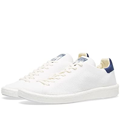 5268811402be adidas Stan Smith Primeknit Mens (w Boost Sole) in White Navy by