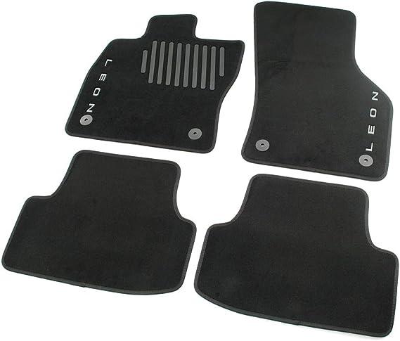 Seat 5f0061675d041 Trail Textil Fußmatten 4x Stoffmatten Velours Matten Schwarz Mit Leon Schriftzug Auto
