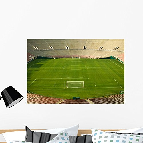 Stadium Stick - Wallmonkeys Soccer Stadium and Field Wall Decal Peel and Stick Graphic WM48860 (36 in W x 24 in H)
