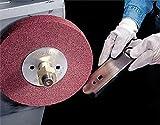 Scotch-Brite(TM) Metal Finishing Wheel, Aluminum Oxide, 3000 rpm, 12 Diameter x 2 Width, 5 Arbor, 5A Medium Grit (Pack of 1)