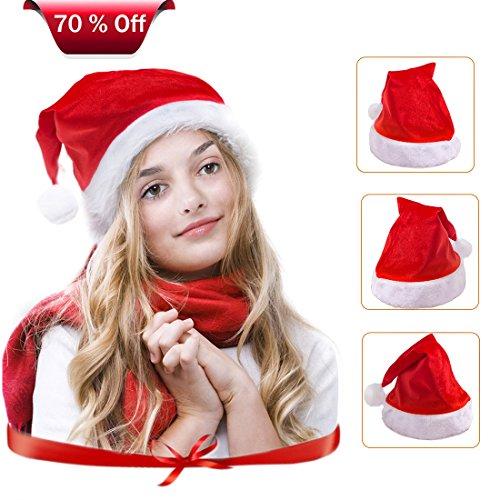 Christmas Hat, 3PCS Santa Claus Hat for Family, Christmas Santa Hat for Kids and (Mean Girl Santa Costumes)