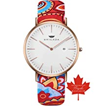 BRIGADA Swiss Watches for Women, Rose Gold Ultra Thin Minimalist watch for Women